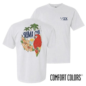 New! Fraternity Comfort Colors Tropical Tee