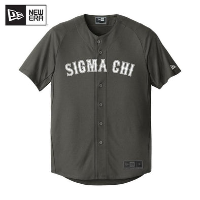 New! Fraternity New Era Graphite Baseball Jersey