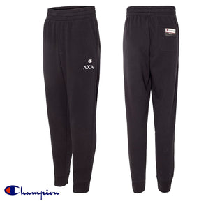 New! Fraternity Black Champion Joggers
