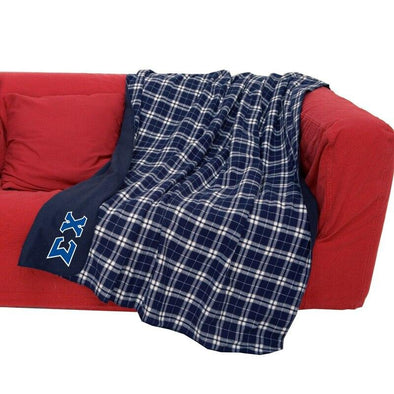 Fraternity Greek Letter Flannel Blanket