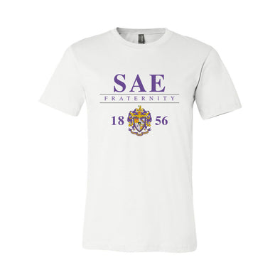 New! Fraternity Classic Crest Short Sleeve Tee