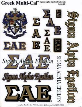 Fraternity Sticker Sheet