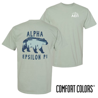 New! Fraternity Comfort Colors Short Sleeve Bear Tee