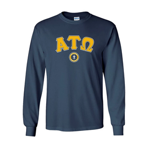 Fraternity Navy Vintage Long Sleeve Tee