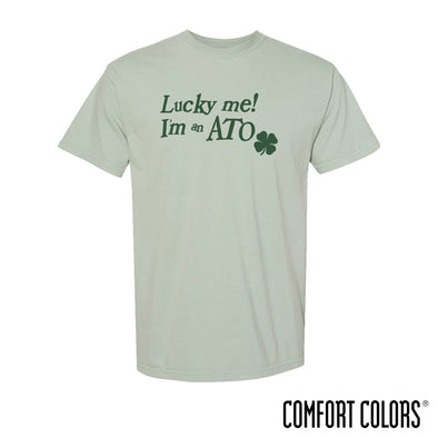 New! Fraternity Comfort Colors Lucky Me Short Sleeve Tee