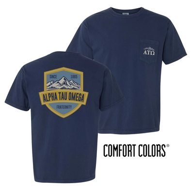 Fraternity Comfort Colors Mountain Pocket Tee