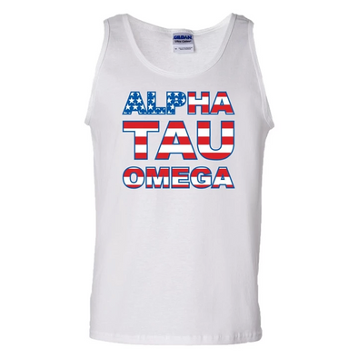 Clearance! Fraternity White USA Tank Top