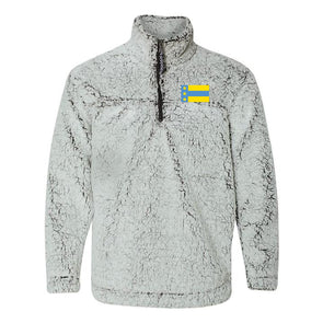 New! Fraternity Flag Sherpa 1/4 Zip Pullover