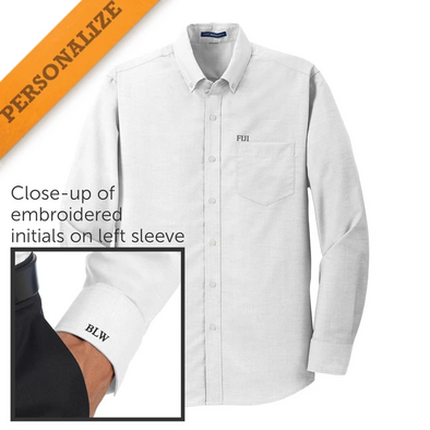 Clearance! Personalized Fraternity White Button Down Shirt