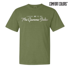 Clearance! Fraternity Green Comfort Colors Lucky Tee