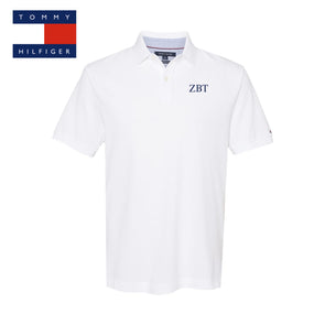 New! Fraternity White Tommy Hilfiger Polo