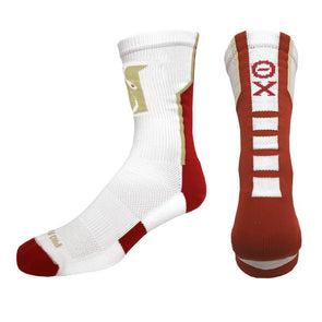 Fraternity White Performance Socks
