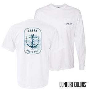 New! Fraternity Comfort Colors White Anchor Tee