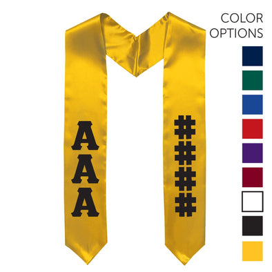 New! Fraternity Pick Your Colors Graduation Stole