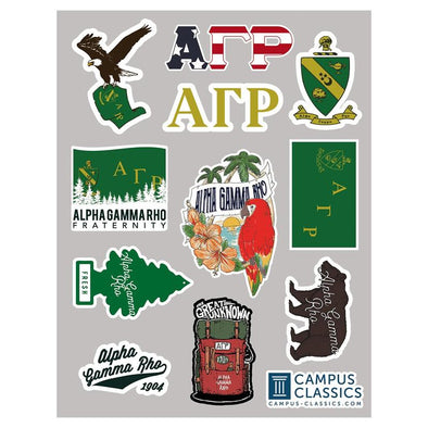 New! Fraternity Sticker Sheet