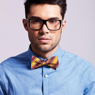 Sale! Fraternity Striped Silk Bow Tie