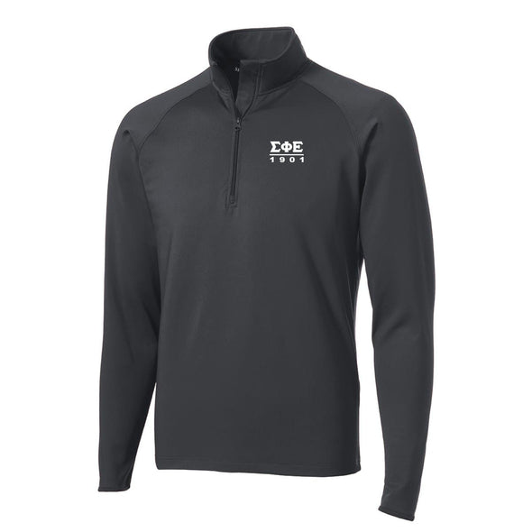 SigEp Charcoal Performance Essential Quarter-Zip Pullover