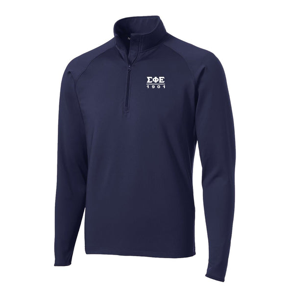 SigEp Navy Performance Essential Quarter-Zip Pullover