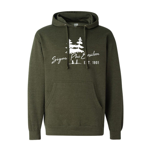 New! SigEp Army Green Wilderness Hoodie