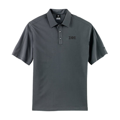Clearance! SigEp Charcoal Nike Performance Polo