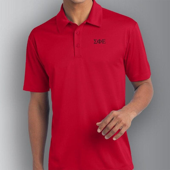 Sale! SigEp Red Performance Polo