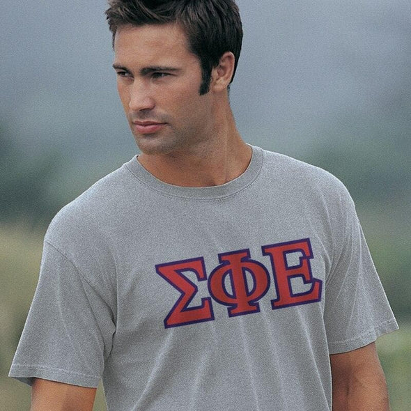 SigEp Heather Gray Greek Letter Tee