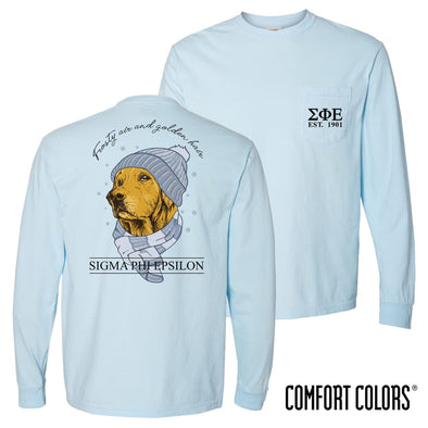 SigEp Comfort Colors Winter Retriever Tee