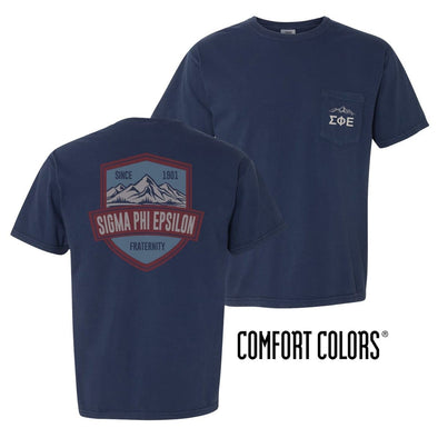 SigEp Comfort Colors Mountain Pocket Tee