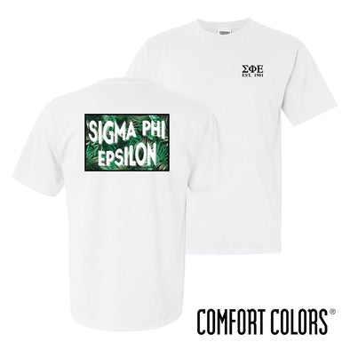 SigEp Comfort Colors White Short Sleeve Jungle Tee