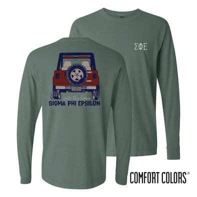 SigEp Comfort Colors Jeep Long Sleeve Tee