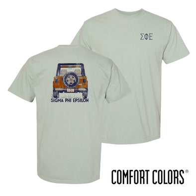 New! SigEp Comfort Colors Short Sleeve Jeep Tee