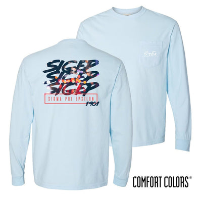 SigEp Comfort Colors Chambray Long Sleeve Urban Tee