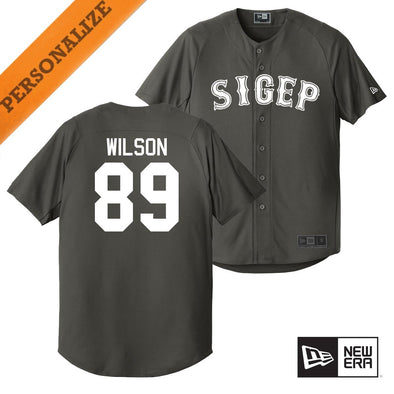 SigEp Personalized New Era Graphite Baseball Jersey