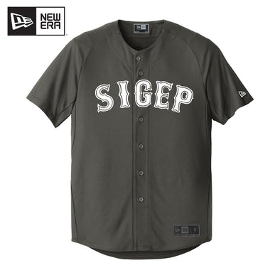 SigEp New Era Graphite Baseball Jersey