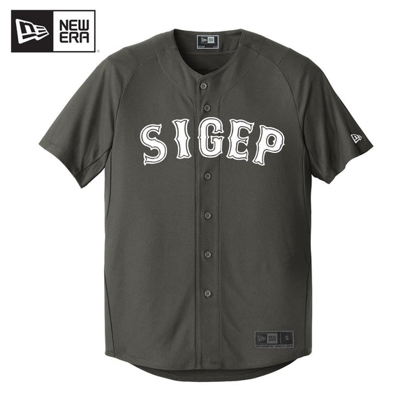 New! SigEp New Era Graphite Baseball Jersey
