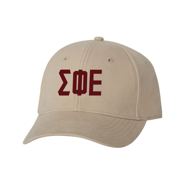 SigEp Structured Greek Letter Hat