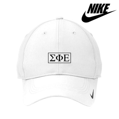 SigEp White Nike Dri-FIT Performance Hat