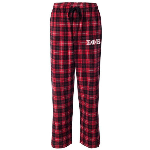 SigEp Red Plaid Flannel Pants