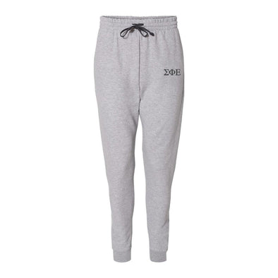 SigEp Heather Grey Contrast Joggers