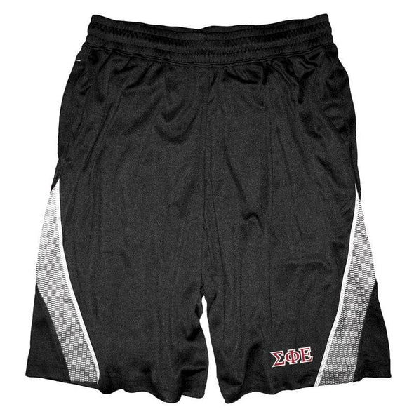 Clearance Priced! SigEp Black & White Pocketed Performance Shorts