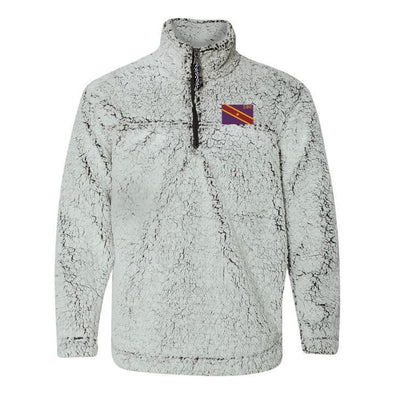 New! SigEp Flag Sherpa 1/4 Zip Pullover