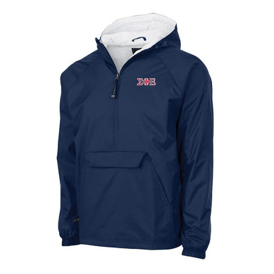 SigEp Charles River Navy Classic 1/4 Zip Rain Jacket