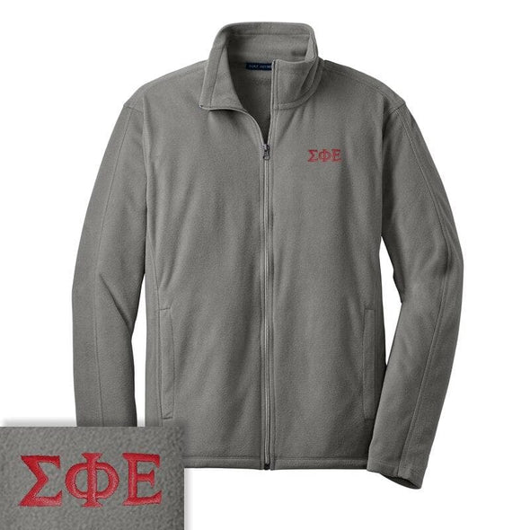 Clearance Priced! SigEp Gray Microfleece Jacket