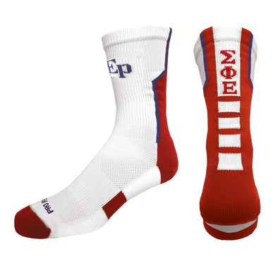 Sale! SigEp White Performance Socks