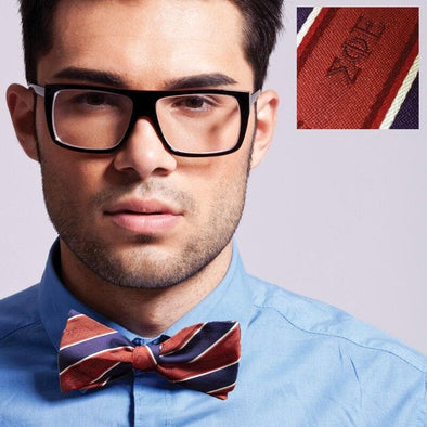 Sale! SigEp Red and Purple Striped Silk Bow Tie
