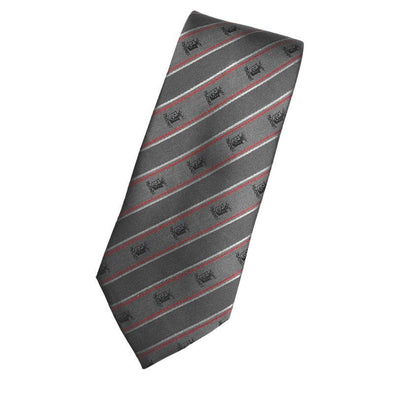 Sale! SigEp Gray Striped Silk Tie