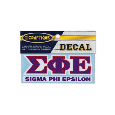 SigEp Greek Letter Decal
