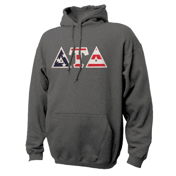 Delt Stars & Stripes Sewn On Letter Hoodie