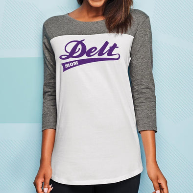 Delt Mom 3/4 Sleeve Tee