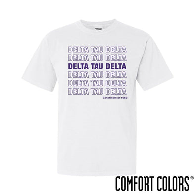 Delt Comfort Colors White Thank You Bag Tee